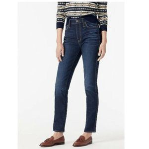 "J Crew 10"" Vintage Straight Leg Blue Jeans Sz 24"
